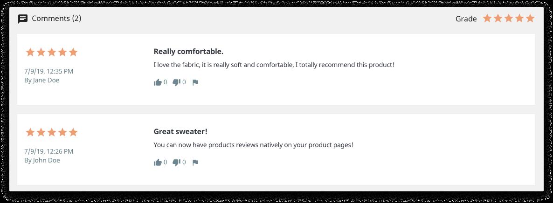 Prestashop comentarios producto